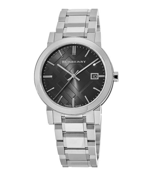 Large Check Black Dial 38mm Men's Watch