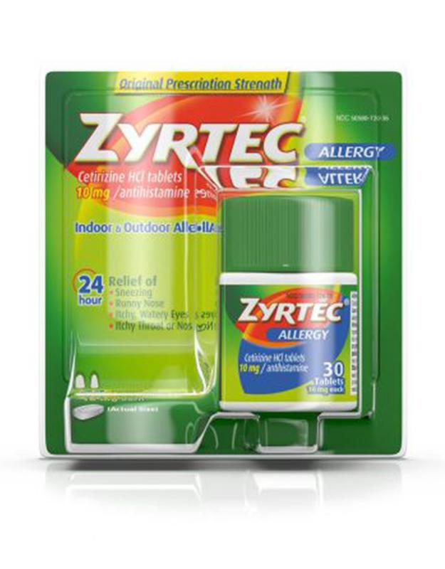 Zyrtec Allergy, Original Prescription Strength