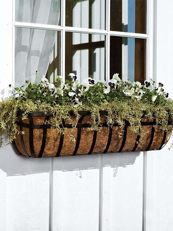 English Hay Basket Planters