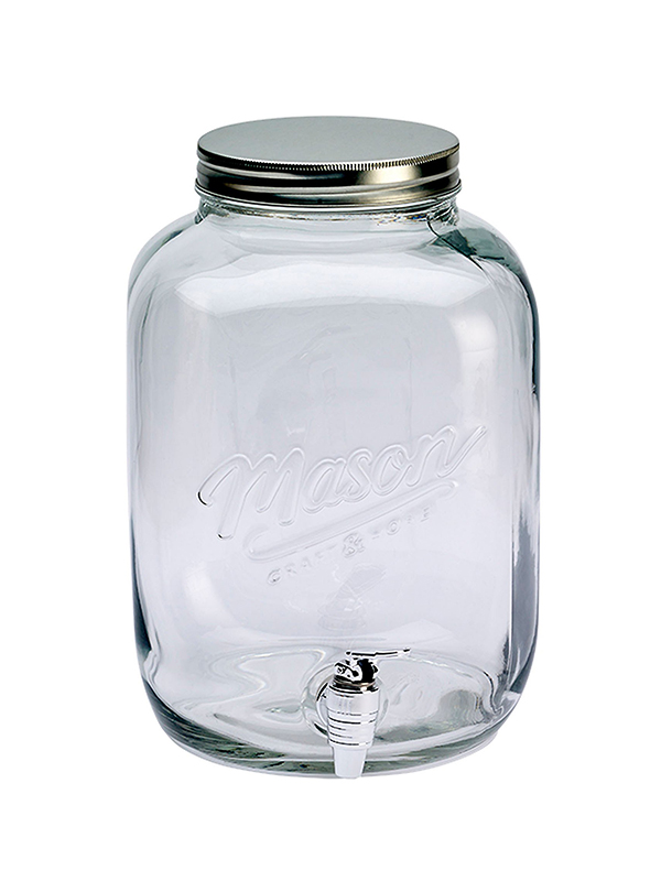 Mason Crafts & More 3 Gallon Drink Dispenser With Metal Lid