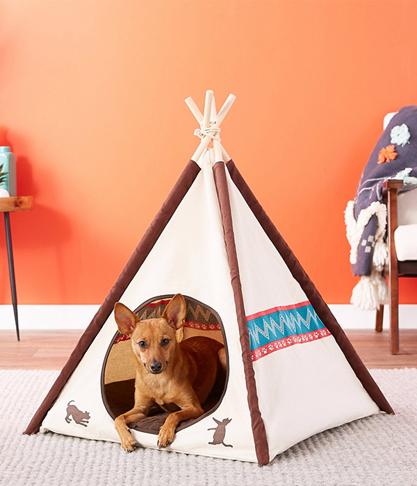 P.L.A.Y. Pet Lifestyle and You Teepee Tent Covered Dog Bed