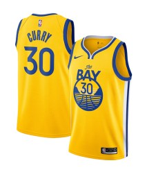 Stephen Curry Golden State Warriors Nike Finished Swingman Jersey Gold