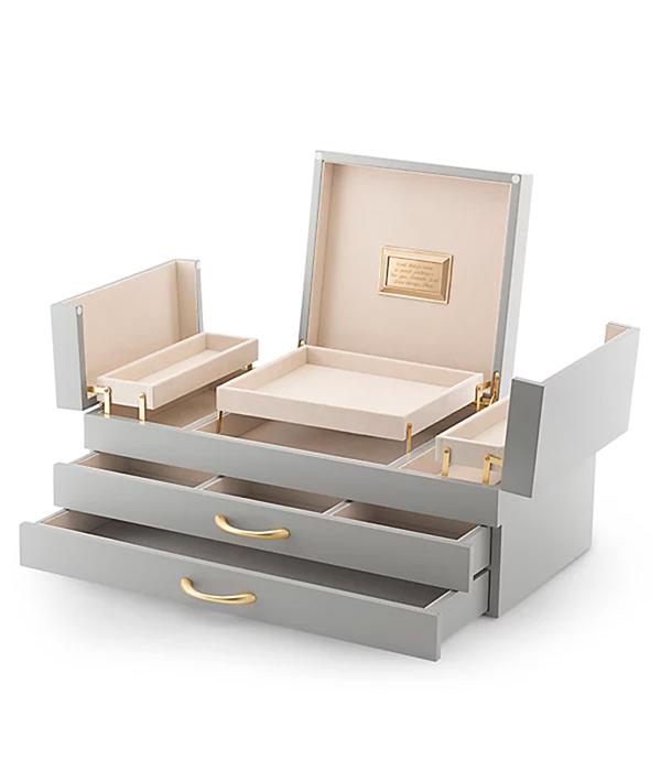 Large Matte Grey Jewelry Box