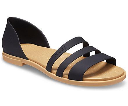 crocs shoes for woman - Tulum Open Flat