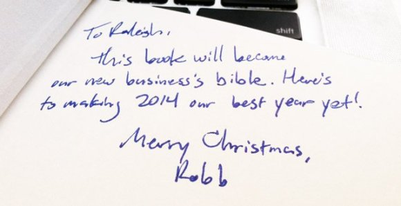 Gift Note from Business Partner