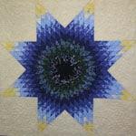 Star quilt close up