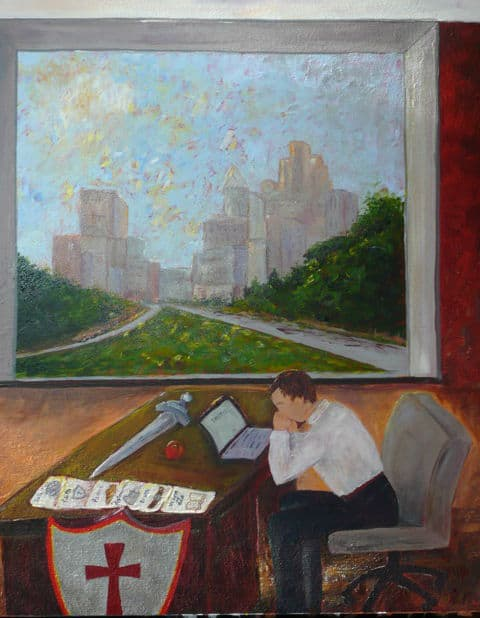 Painting by Luz Frye from Nov. 30, 2014 worship service