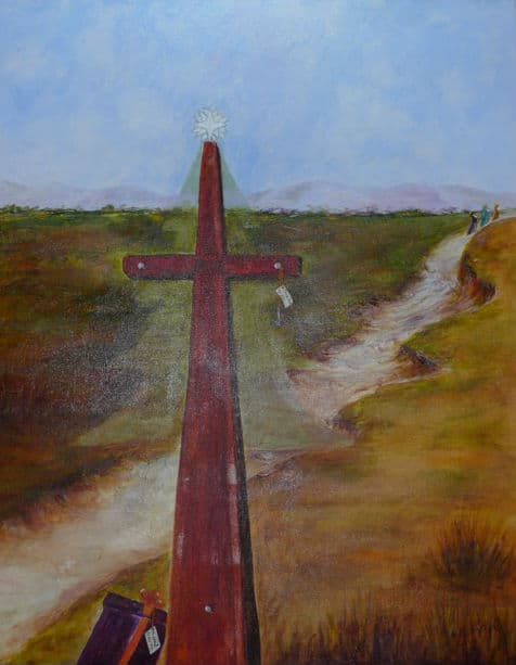 Painting by Luz Frye from January 4, 2015 worship service.