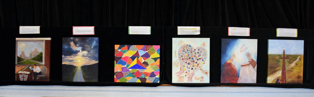 Six paintings created by Luz Frye during 2014 Advent & Christmas