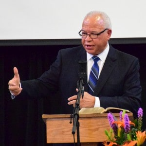 Dr. Dumas Harshaw preaching at RMC, Jan. 17, 2016