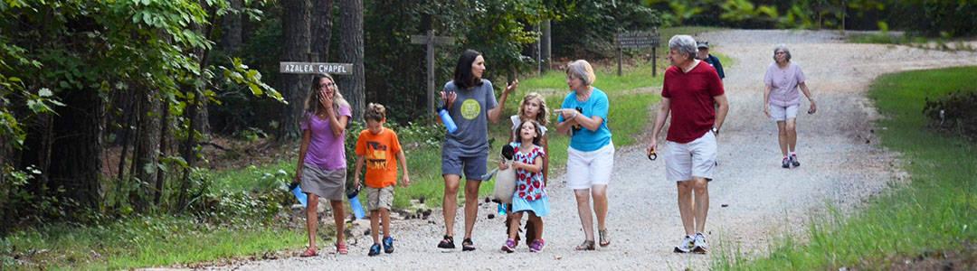 RMCers walking road at Camp Agape, Aug, 2016
