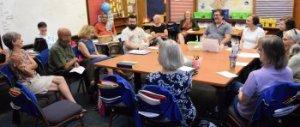 Adult Sunday school class at RMC
