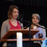Shannon and Deb bring the message at RMC on Nov. 11, 2018