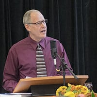 Doug Luginbill preaching at RMC on Nov. 18, 2018