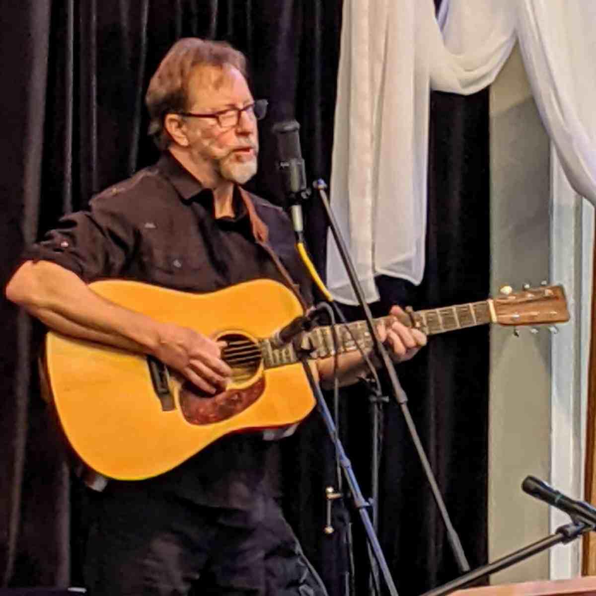 Charles Pettee sings at Raleigh Mennonite Nov. 10, 2019