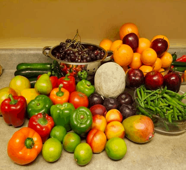Produce rescued from a dumpster.