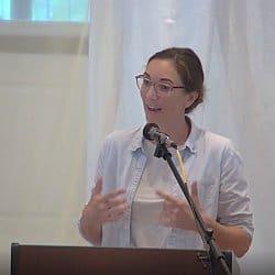 Melissa preaching on Sept. 5, 2021