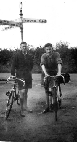 Before Dad went on his National Service in 1948 to Palestine he went on tour with his brothers Charles, Arthur and Arthur's wife Kathleen. This is Charles and Dad