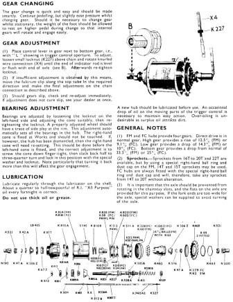 Adjustment instructions for Sturmey Archer FC hub