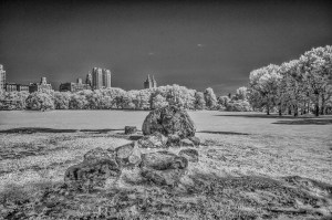 NYC Central Park infrared exposure 720 nm, black&white