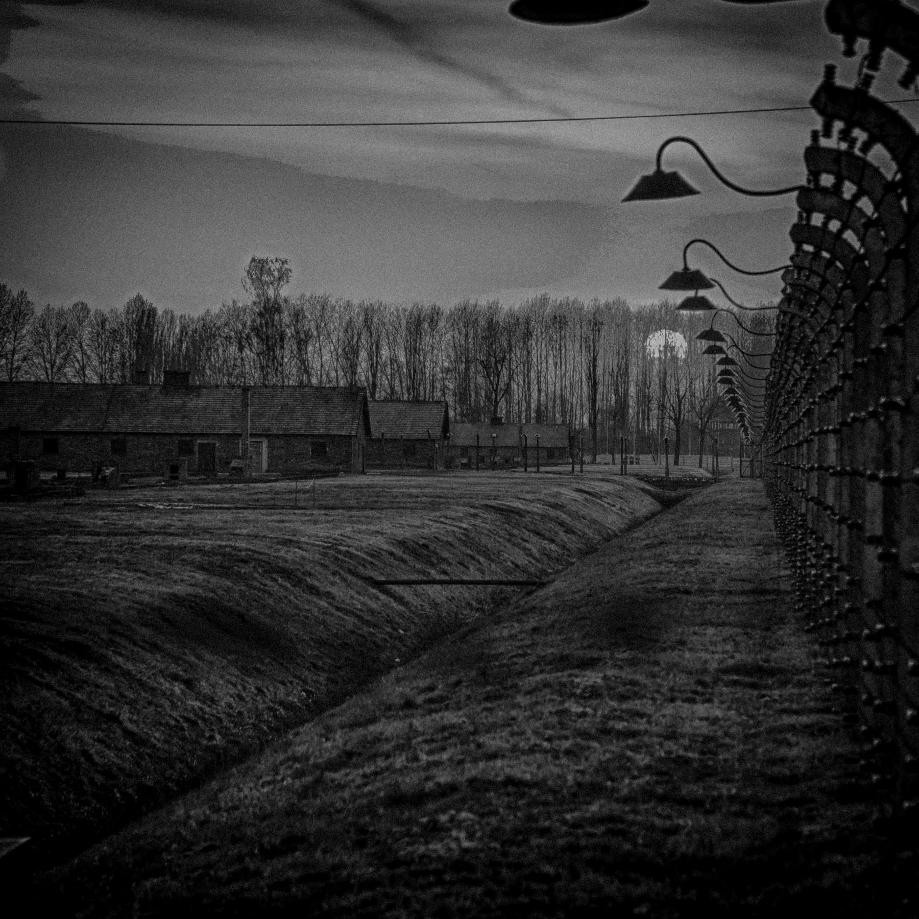 Auschwitz Concentration Camp Birkenau Sunset