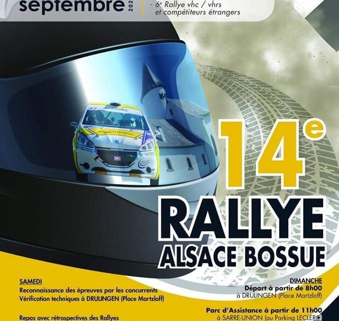 14ème rallye d'Alsace Bossue