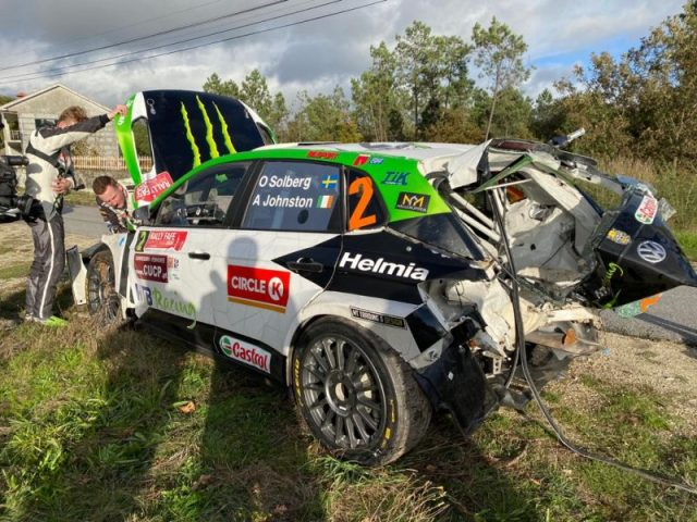 Oliver Solberg - Polo GTI R5 - Crash - Fafe 2020
