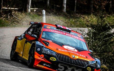 Chris Ingram était en test avec la Skoda Rally 2...