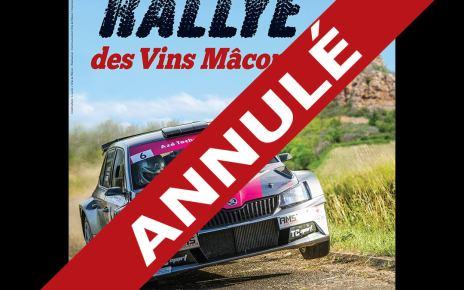 Le Rallye des Vins de Mâcon est annulé