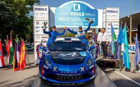 Manu Guigou offre à l'Alpine A110 Rally sa première victoire internationale en Slovénie
