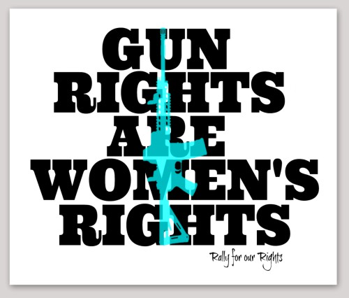 Gun rights are womens rights sticker - Rally for our Rights