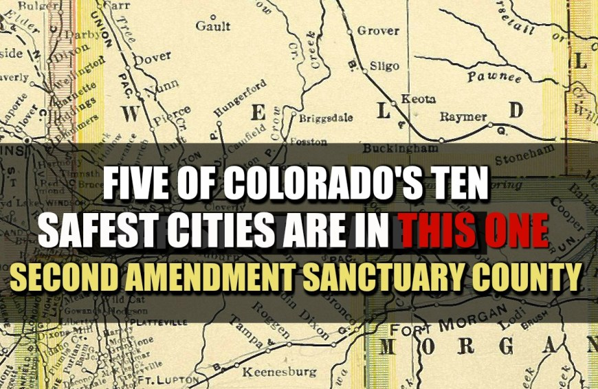 Five of Colorado's Ten Safest Cities Are In A Second Amendment Sanctuary County : Rally for our Rights