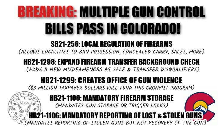 BREAKING: Multiple Gun Control Bills Head To CO Governor's Desk