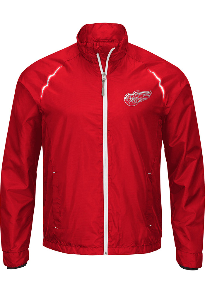 Wings Detroit Coats Red