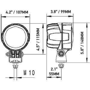 Hella Module 90 LED Gen IV Work Lamp