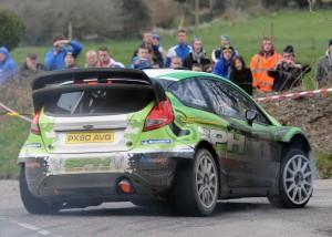 Fiesta WRC. Irish debut on the West Cork Rally 2013. Photo courtesy of:  Martin Walsh: West Cork based rally guru, journalist  and photographer.