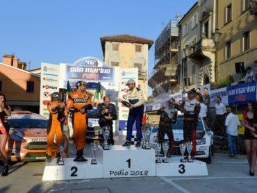 Podio San Marino Rally 2018