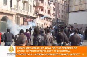 Al Jazeera screen capture from Egypt