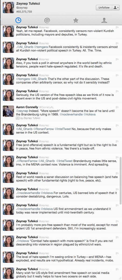 Tweets from Zeynep Tufekci