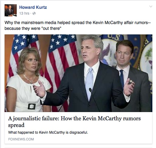 Reporting on the Kevin McCarthy story.