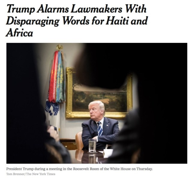 Trump Alarms Lawmakers With Disparaging Words for Haiti and Africa