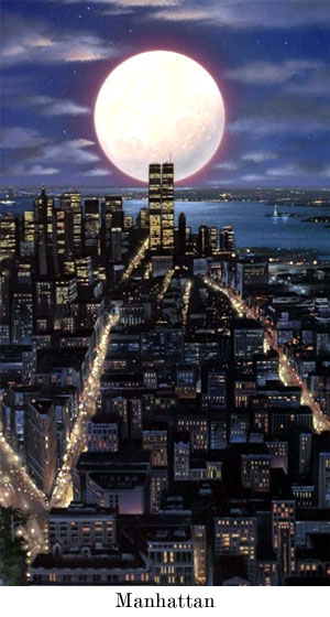 Manhattan by moonlight