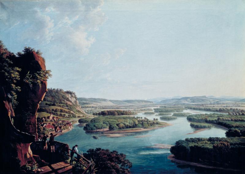 Blick vom Isteiner Klotz rheinaufwärts gegen Basel