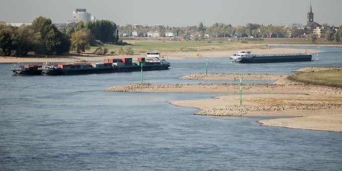 Wasserstand am Rhein so tief wie noch nie seit 1947