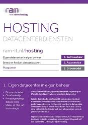 Productflyer Hosting en Datacenterdiensten
