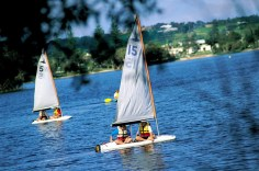 Sailing at Lake Ainsworth Lennox Head