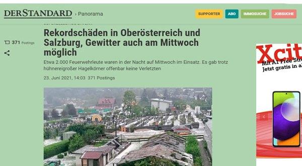 بالفيديو عاصفة رعدية قوبة تضرب ولاية النمسا العاليا و تخلف أضرار جسيمة