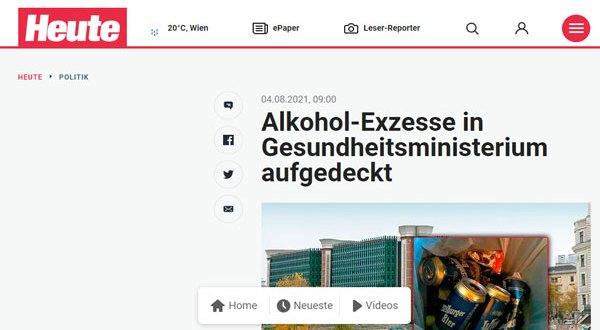 فيينا – بالصور والفيديو – الكشف عن مشروبات كحولية في مكاتب وزارة الصحة