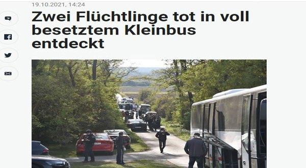 النمسا – بالصور مأساة جديدة لمهاجرين سوريين بعد العثورعلى جثث في شاحنة بولاية بورج لاند
