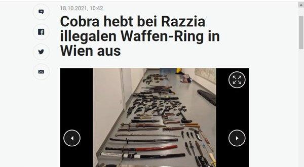 فيينا – بالصور سقوط 3 إشخاص في حملة أمنية مكبرة بتهمة حيازة مخدرات وأسلحة نارية